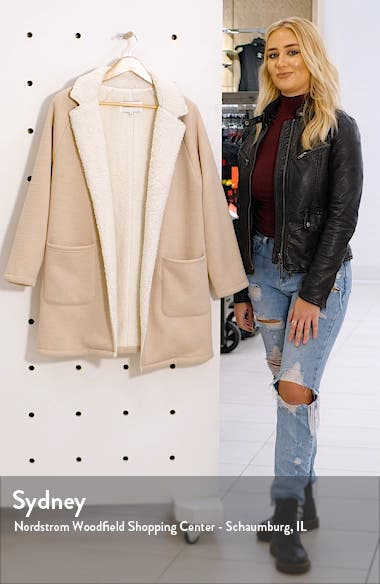 cucakes and cashmere Rosie Faux Shearling Lined Cardigan, sales video thumbnail
