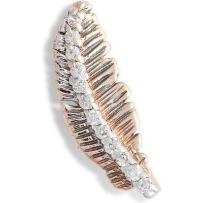 Kismet By Milka Diamond Feather Single Earring