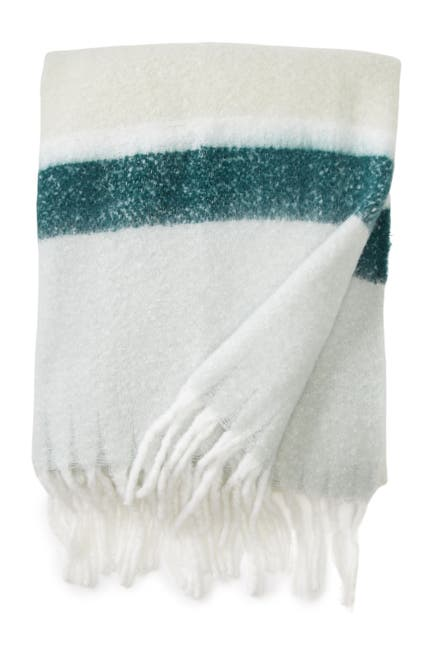 """Image of Nordstrom Rack Brushed Colorblock Throw - 50""""x60"""""""