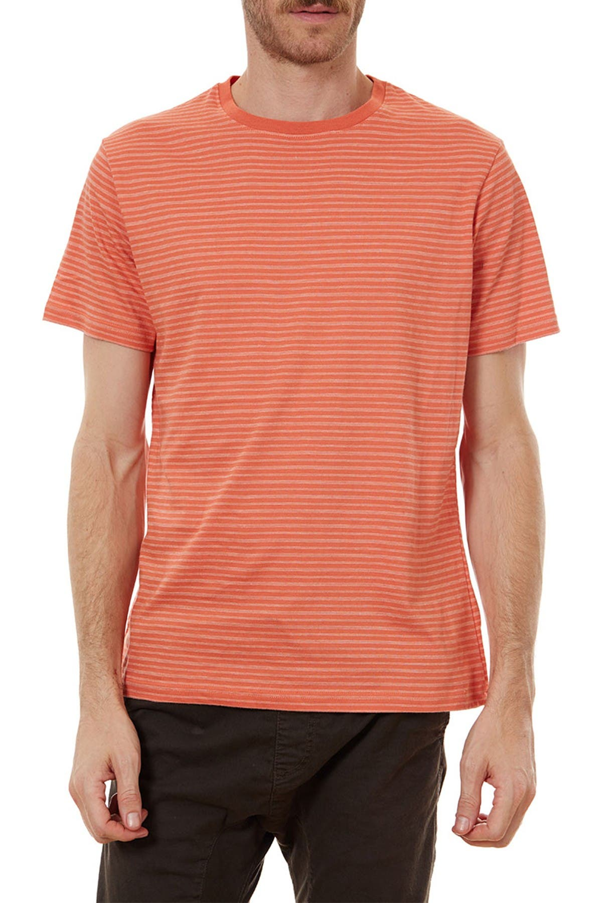 Image of PX Thin Stripe Crew Neck T-Shirt