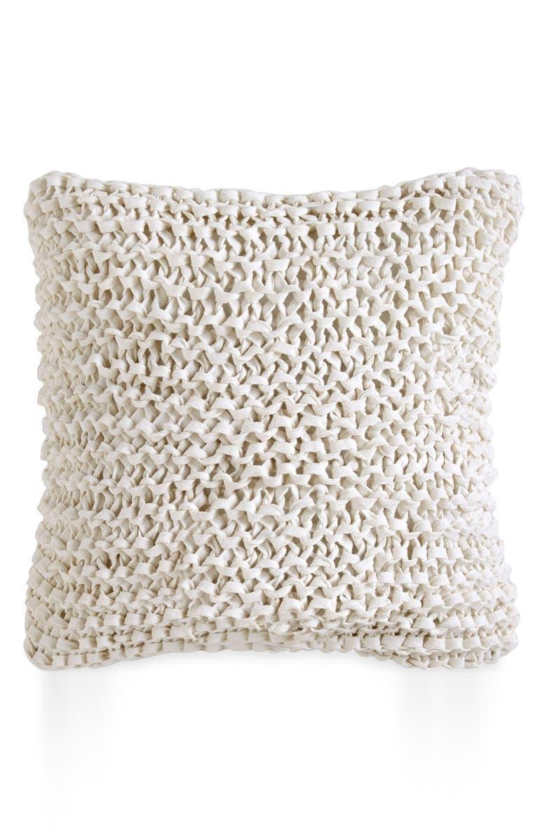 DKNY 'City Pleat' Pillow, Main, color, WHITE