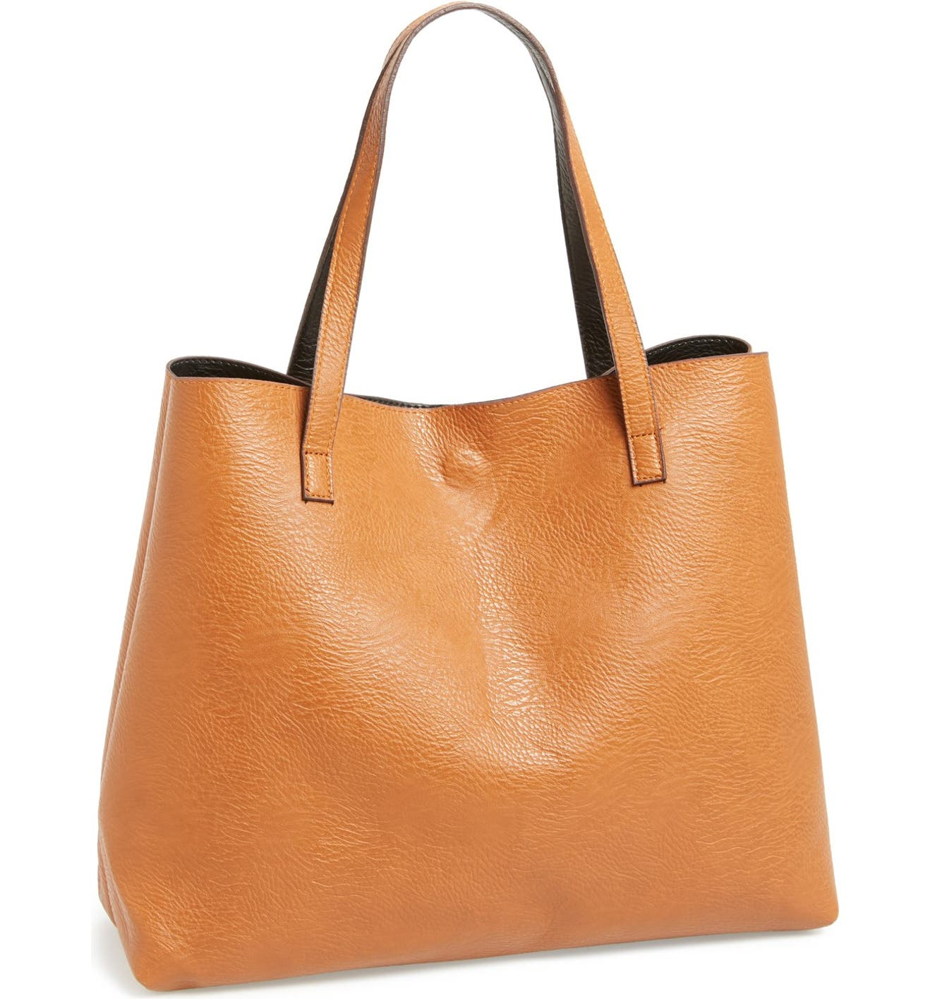 5eccf622f5 Street Level Reversible Faux Leather Tote & Wristlet | Nordstrom