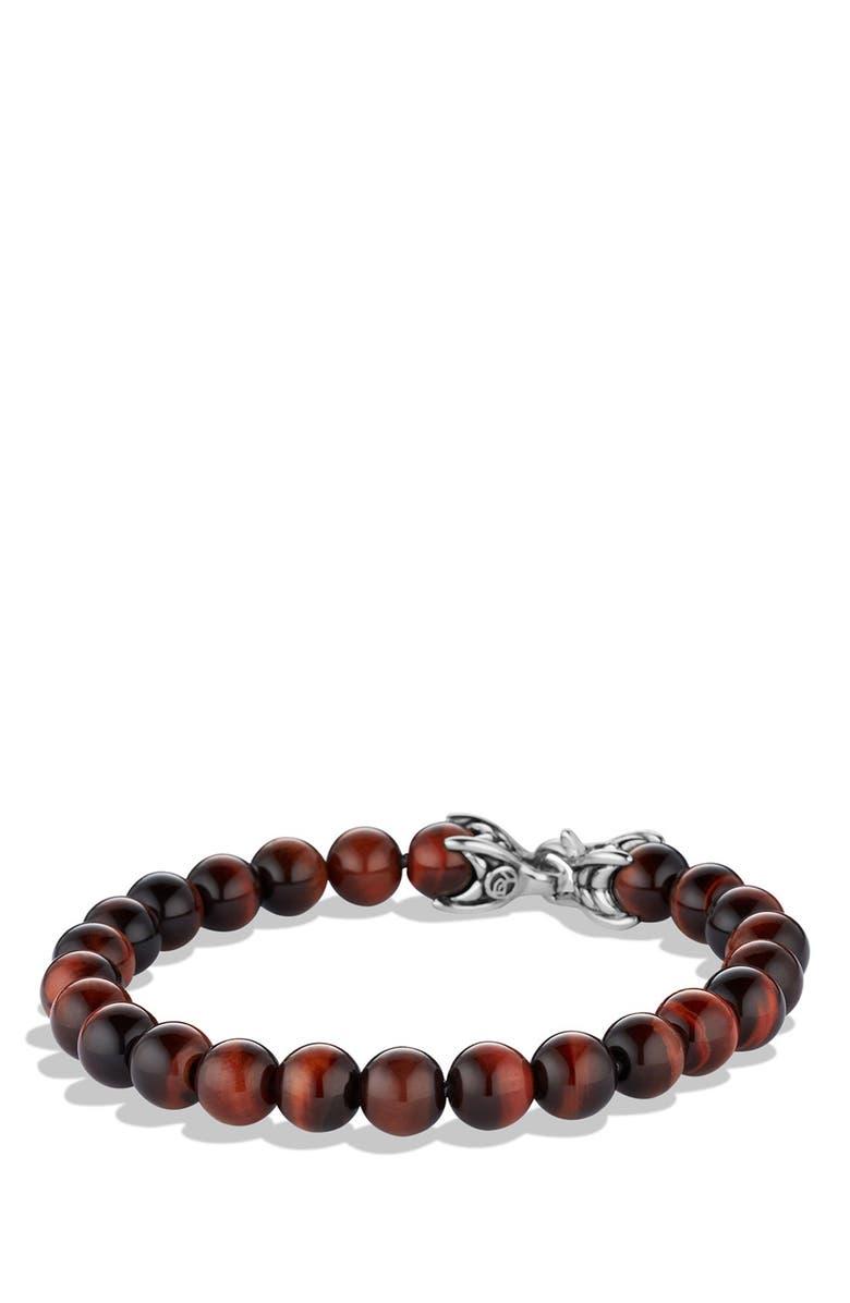 DAVID YURMAN Spiritual Beads Tigers Eye Bracelet, Main, color, TIGER EYE