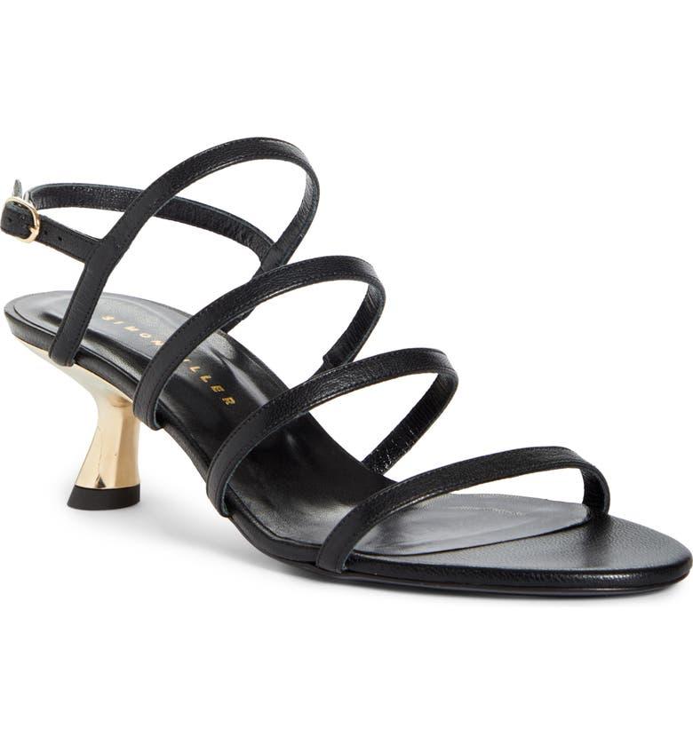 SIMON MILLER Low Heel Sandal, Main, color, BLACK