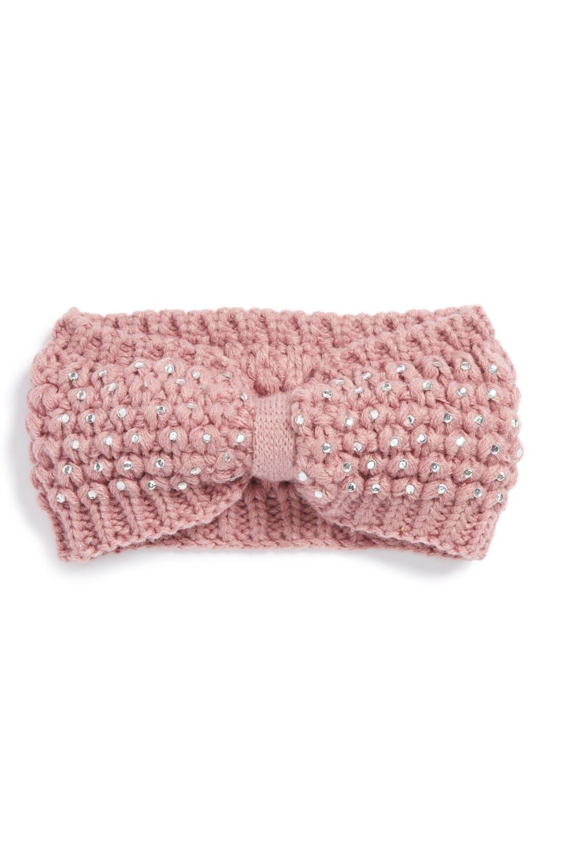 'Sparkle' Knit Headband, Main, color, 650