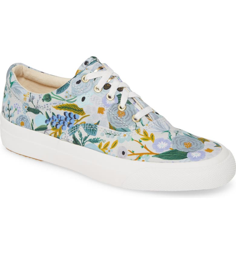 KEDS<SUP>®</SUP> x Rifle Paper Co. Champion Low Top Sneaker Sneaker, Main, color, GREY CANVAS