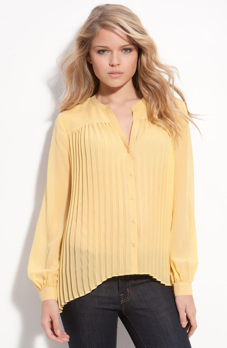 LEITH Pleated Silk Blouse, Main, color, 700