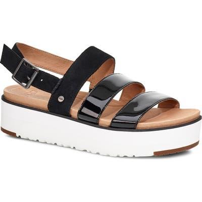 UGG Braelynn Flatform Sandal, Black