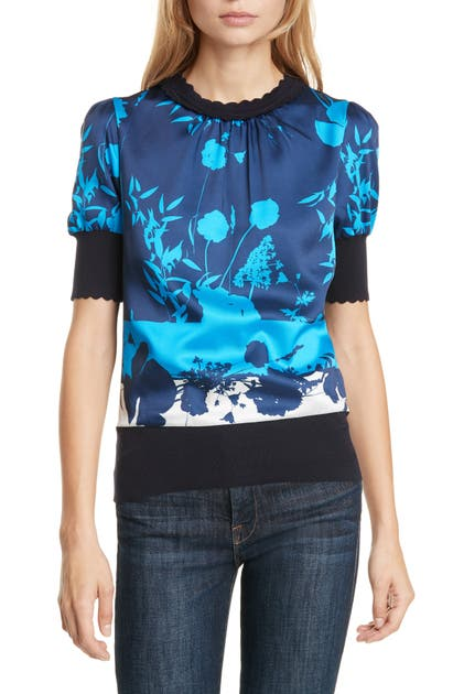 Ted Baker Mehino Bluebell Sweater In Navy