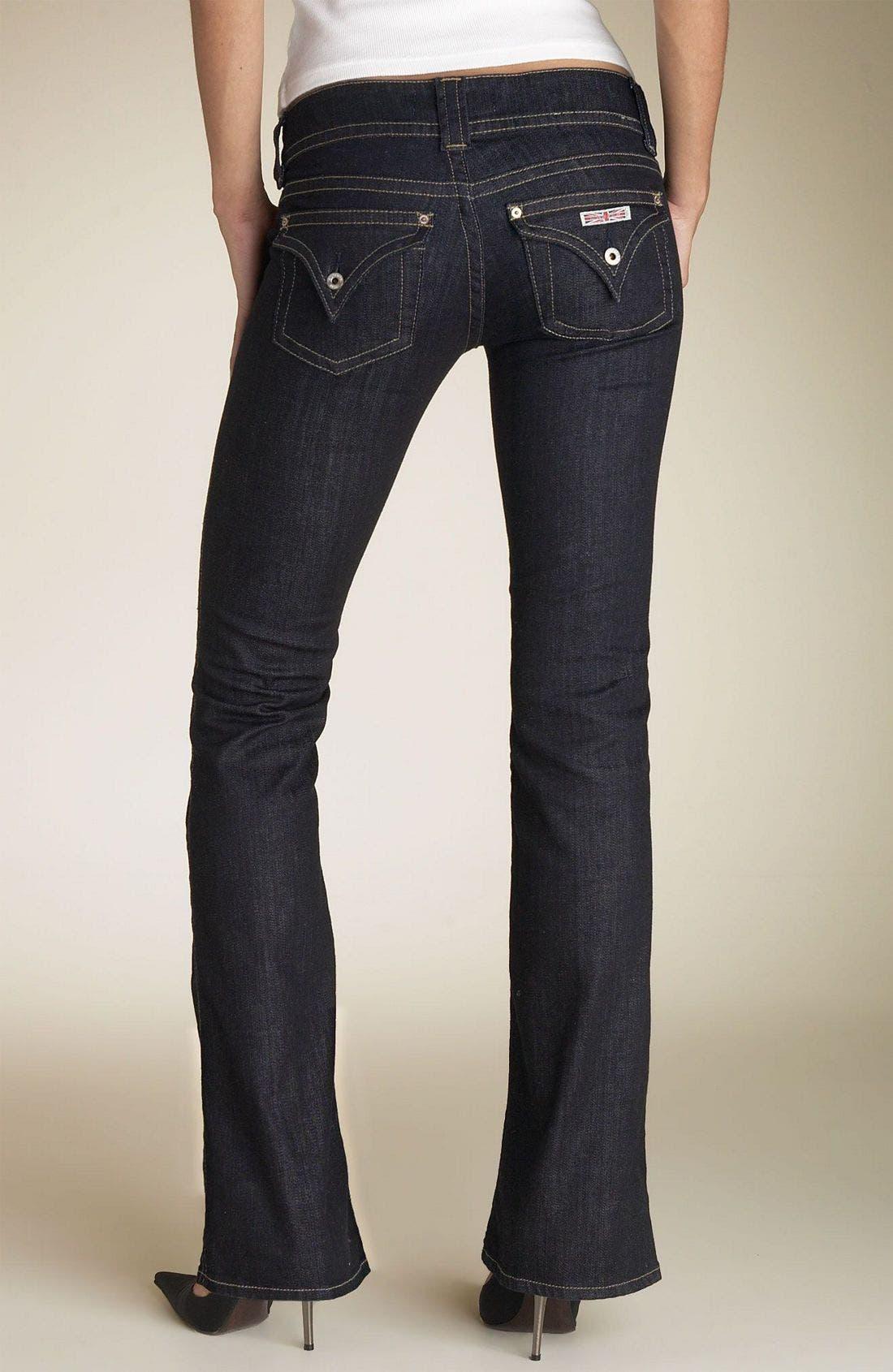 ,                             Signature Flap Pocket Bootcut Jeans,                             Alternate thumbnail 102, color,                             IQJ