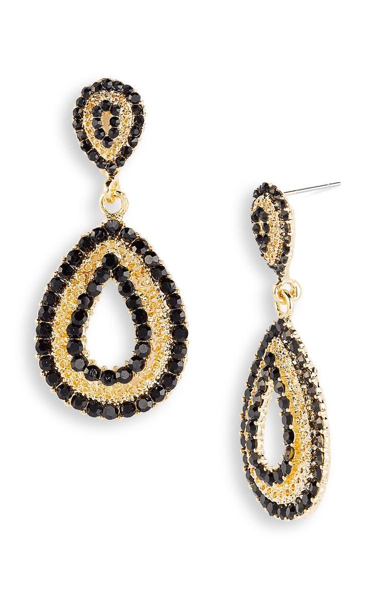TASHA Teardrop Statement Earrings, Main, color, 001