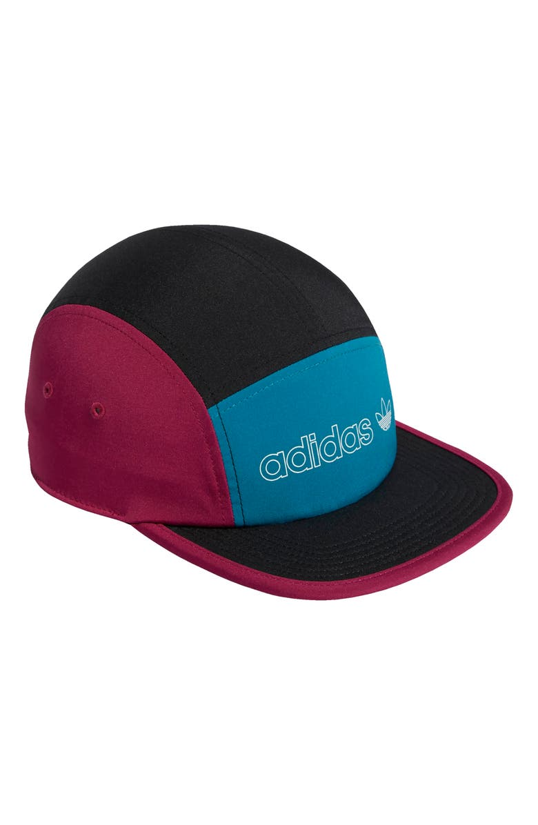 ADIDAS Blocked Five-Panel Hat, Main, color, BLACK