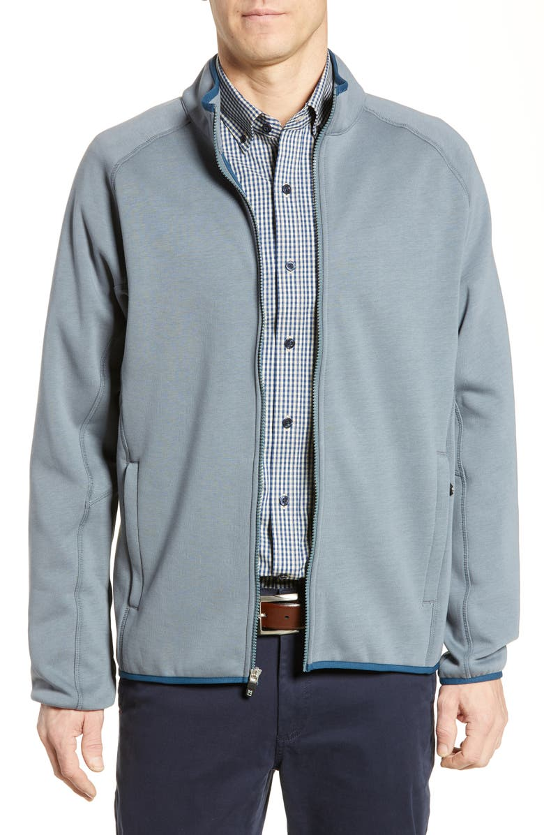 CUTTER & BUCK Discovery Windblock Jacket, Main, color, SOAPSTONE