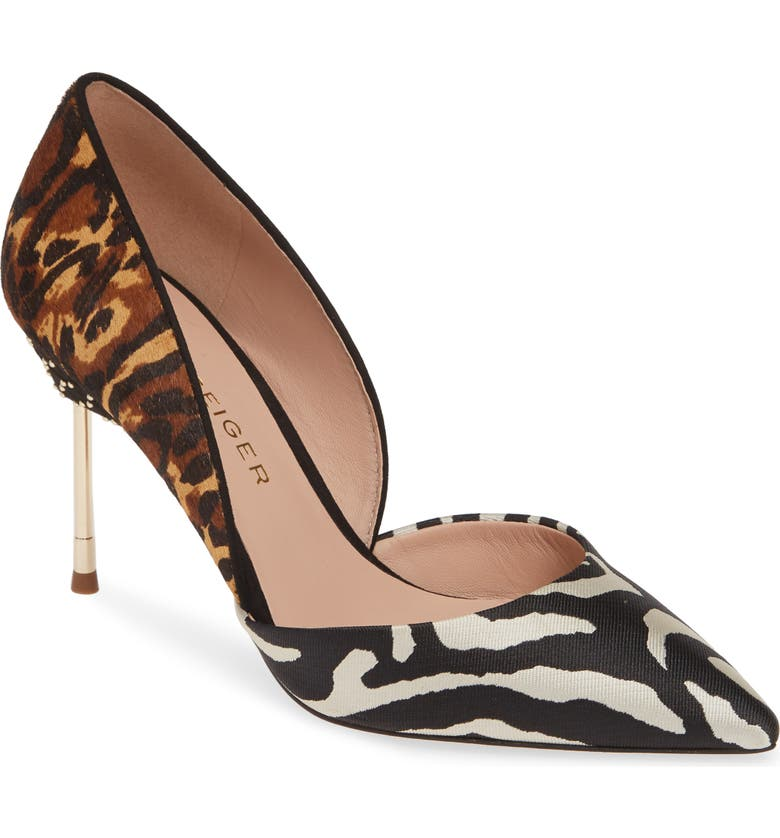 KURT GEIGER LONDON Bond 90 d'Orsay Pump, Main, color, MULTI/ OTHER LEATHER