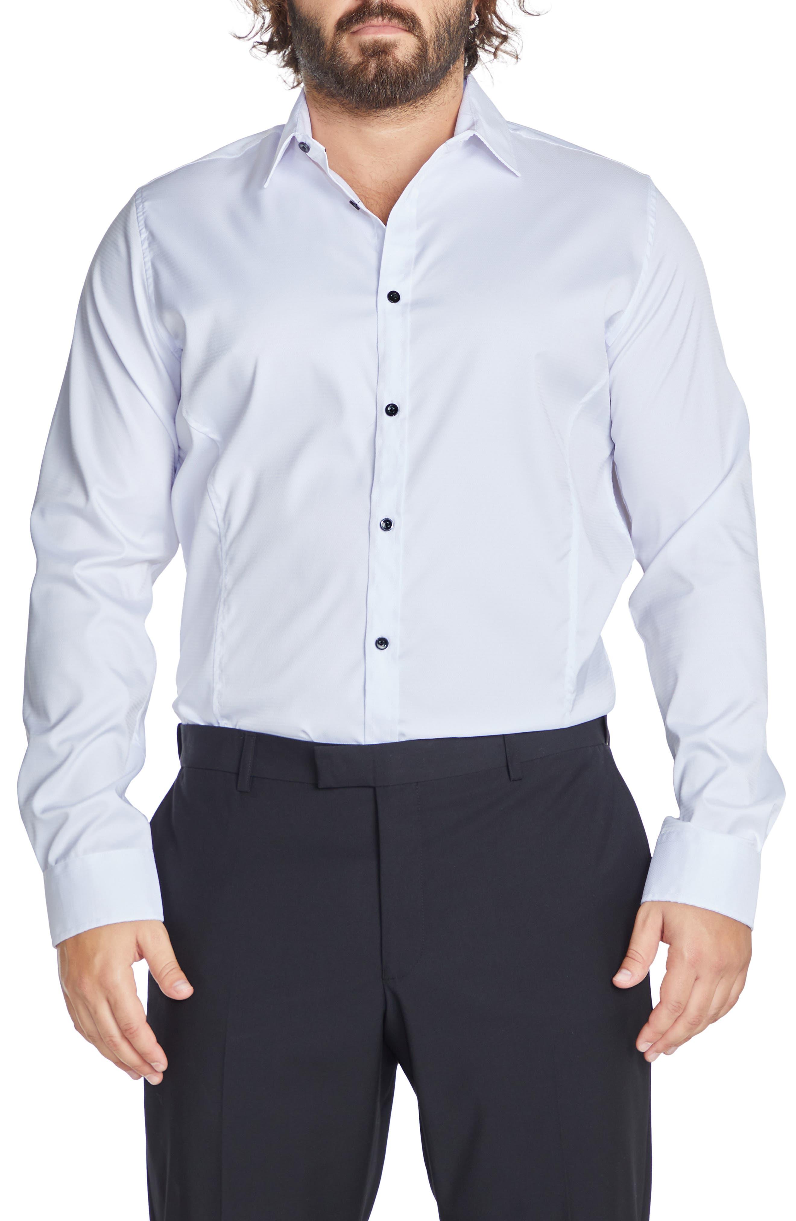 Bahamas Regular Fit Solid Stretch Dress Shirt