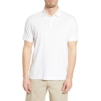 Faherty Reserve Organic Pima Cotton Polo, White