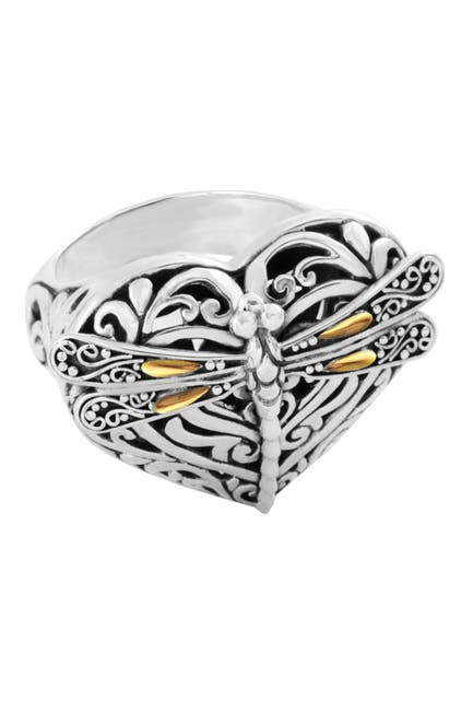 Image of DEVATA 18K Gold & Sterling Silver Sweet Dragonfly Love Potion Ring