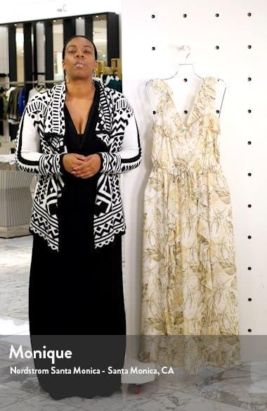 Cheryl Crossback Ruffle Maxi Dress, sales video thumbnail