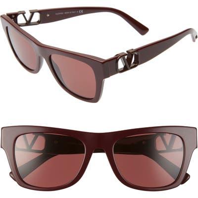 Valentino 52Mm Polarized Sunglasses - Bordeaux/ Bordeaux Solid