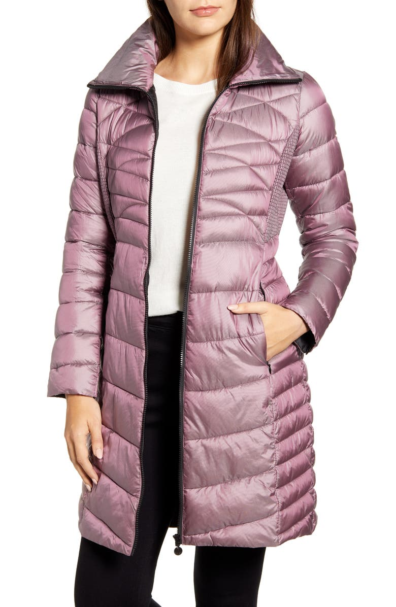 BERNARDO Packable EcoPlume Walker Coat, Main, color, 581