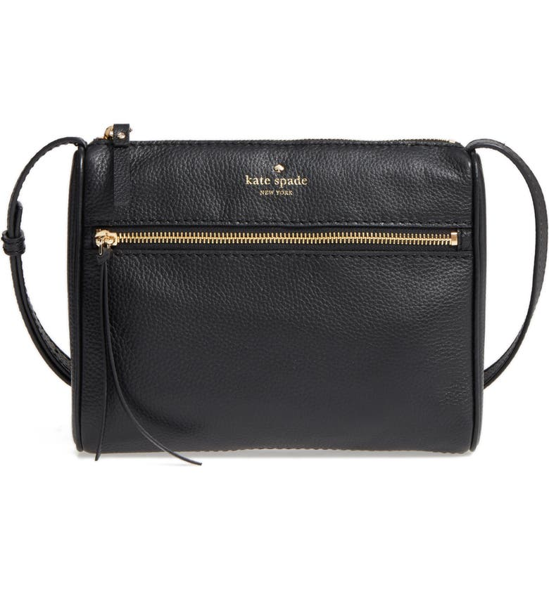 KATE SPADE NEW YORK young lane - cayli leather crossbody bag, Main, color, 001
