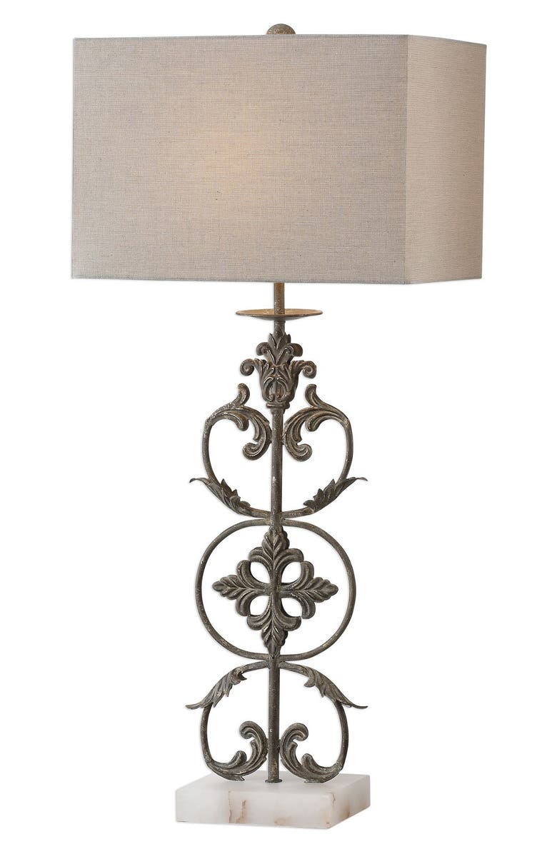 UTTERMOST Gerosa Table Lamp, Main, color, BRONZE WITH WHITE BASE