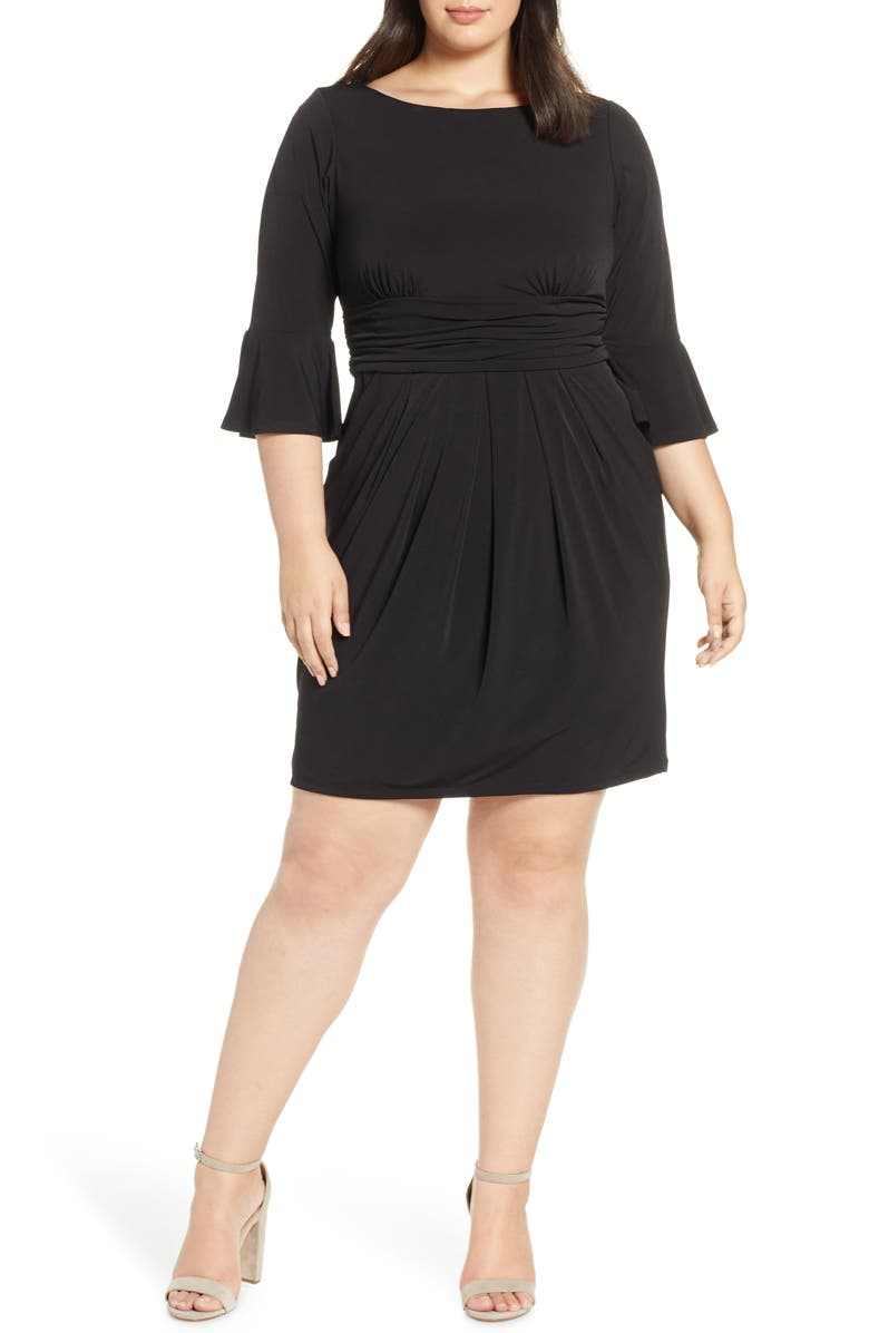 ELIZA J Bell Sleeve Sheath Dress, Main, color, 001