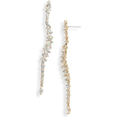 Nadri Tango Scattered Linear Earrings