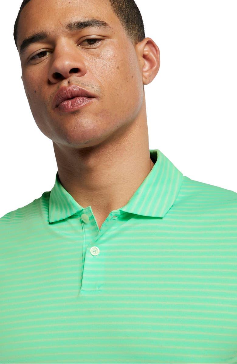 NIKE TW Stripe Dri-FIT Polo, Main, color, GREEN GLOW