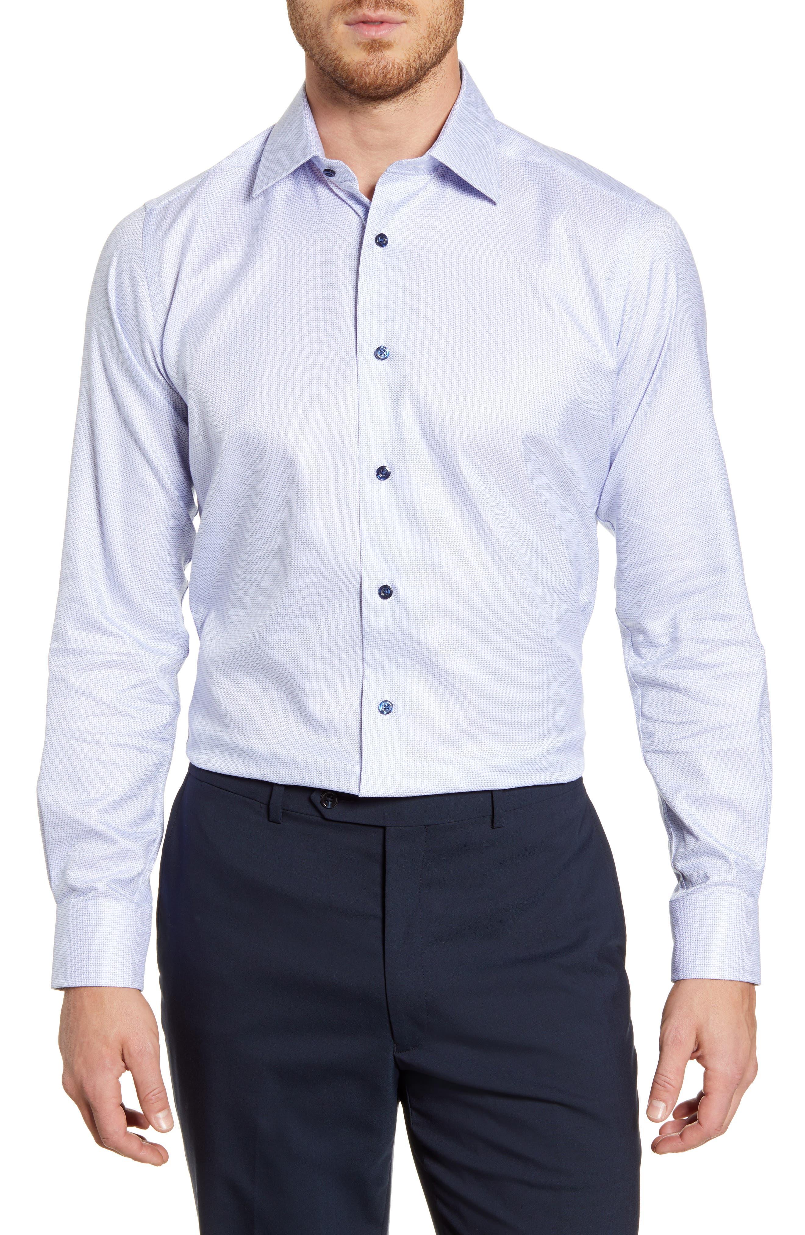 Slim Fit Check Cotton Dress Shirt