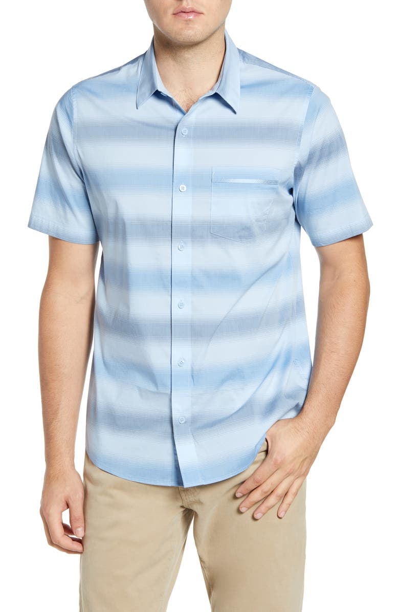 TRAVISMATHEW Magic Castle Regular Fit Shirt, Main, color, HEATHER PLACID BLUE