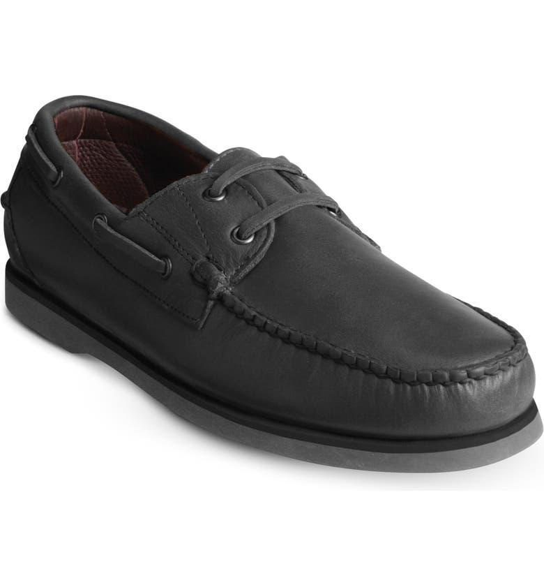 ALLEN EDMONDS Force 10 Boat Shoe, Main, color, CHARCOAL