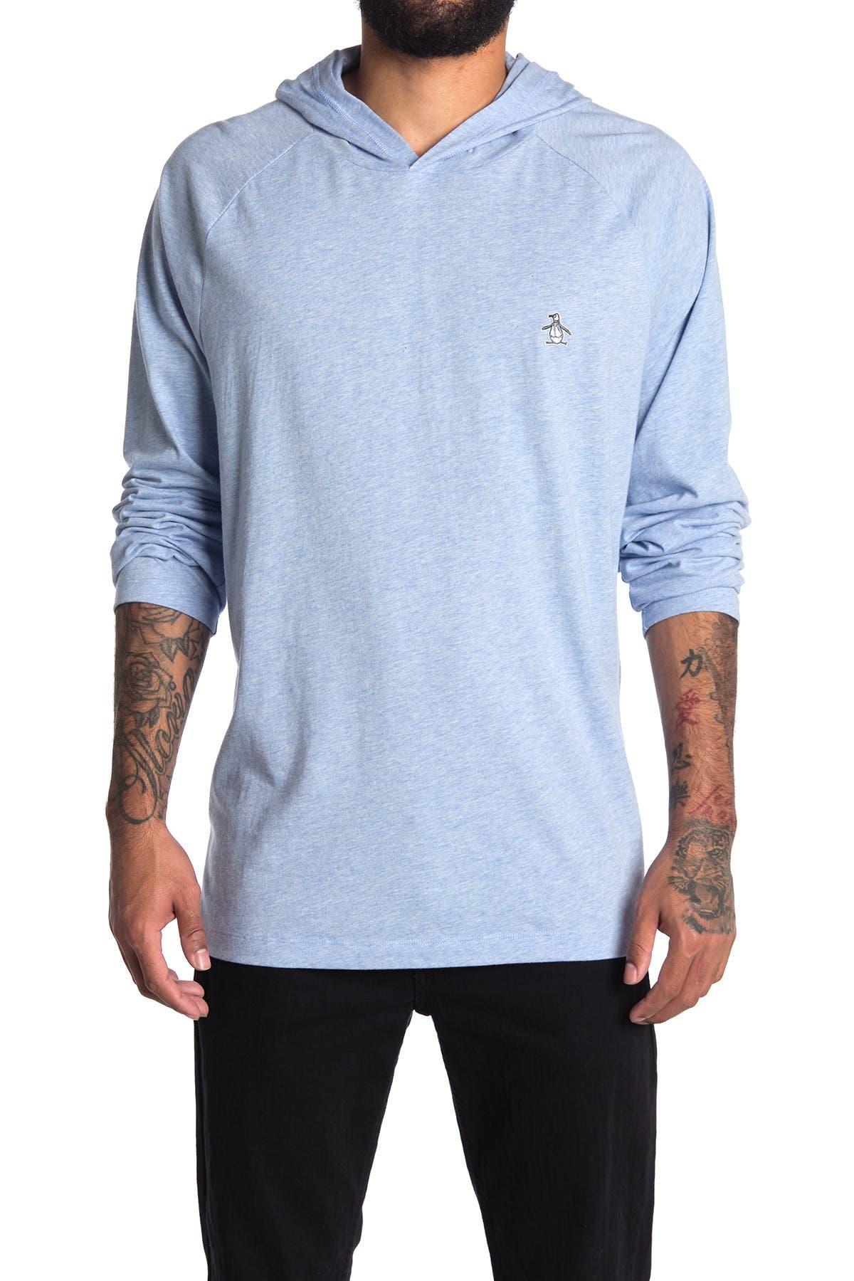 Image of Original Penguin Long Sleeve Hooded T-Shirt