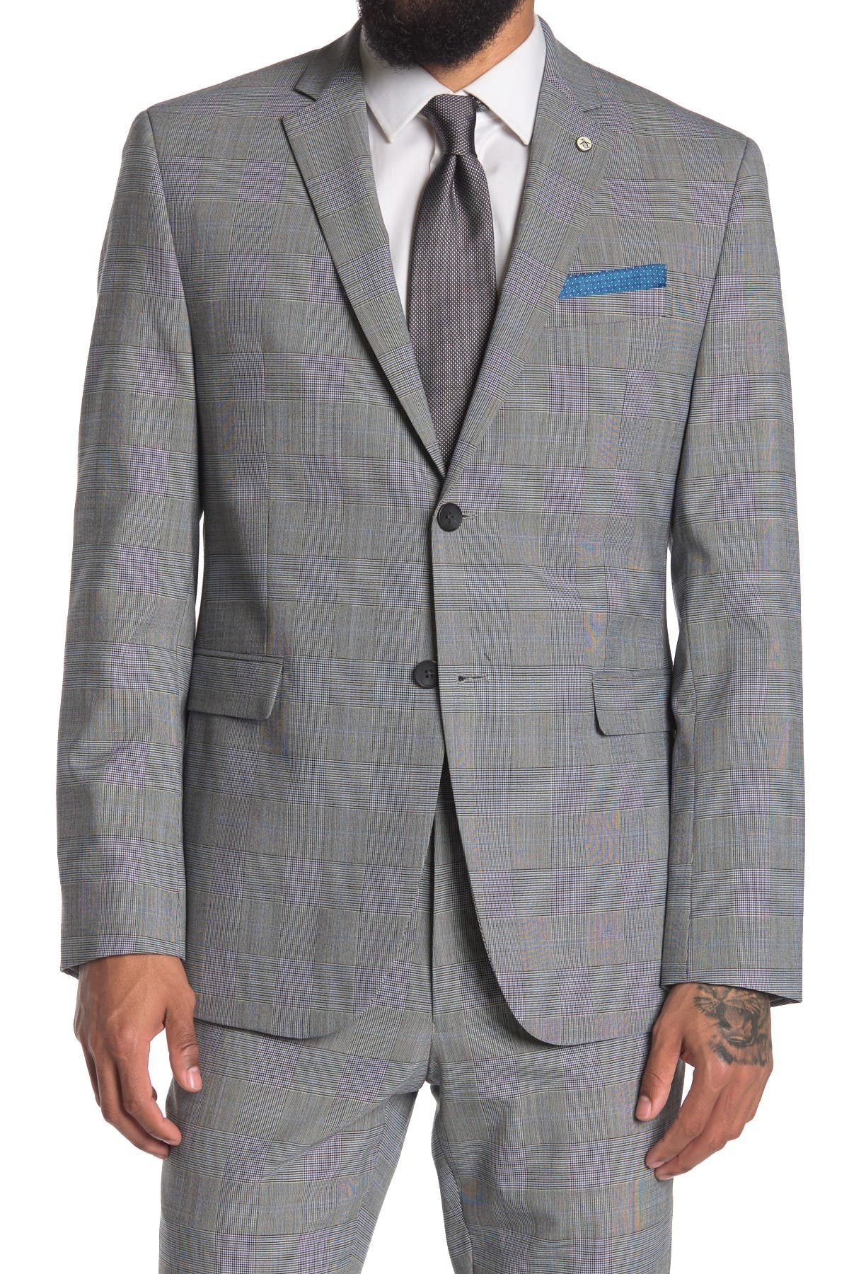 Image of Original Penguin Slim Glen Plaid Suit Separate Jacket
