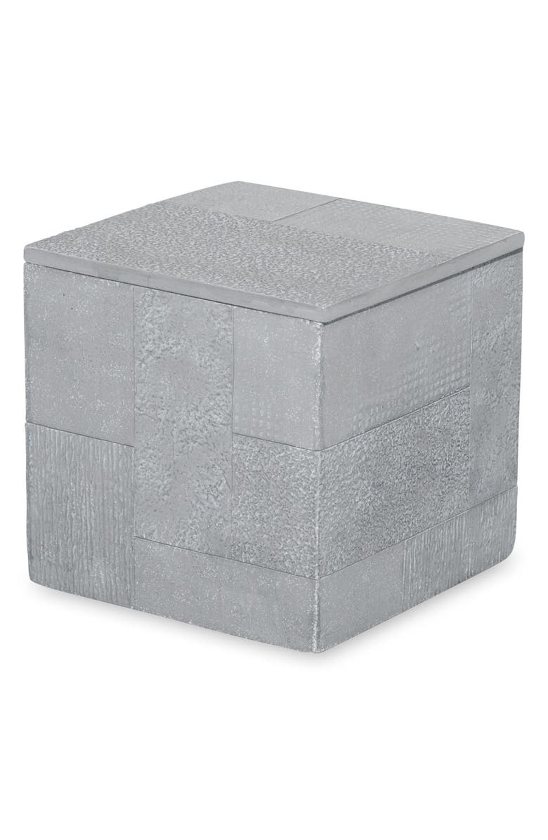 DKNY Cornerstone Storage Jar, Main, color, GREY