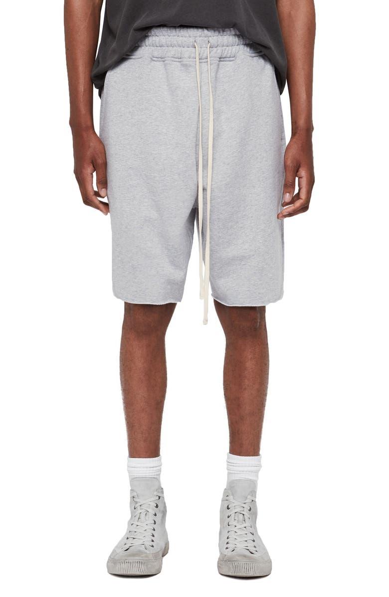 ALLSAINTS Avio Knit Shorts, Main, color, GREY MARL