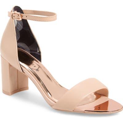 Ted Baker London Shea Ankle Strap Sandal - Beige