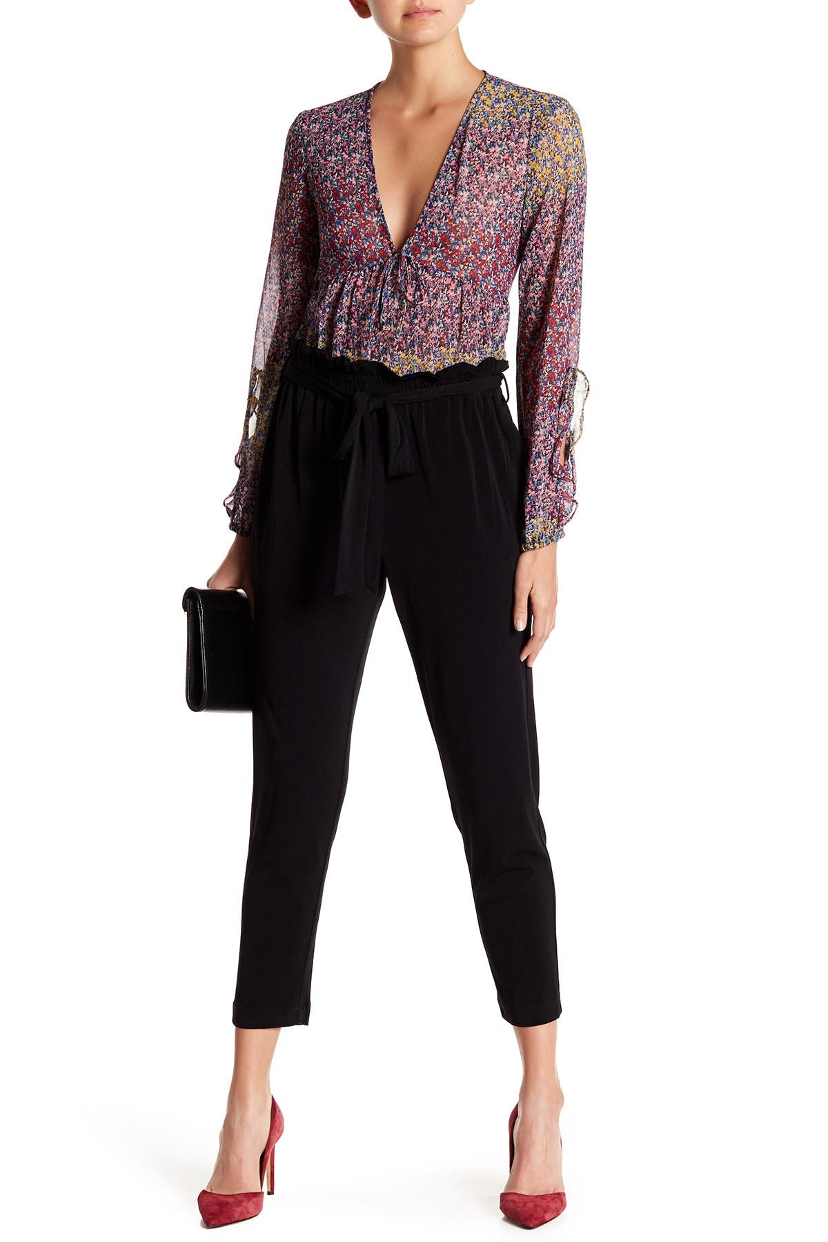 Image of BCBGeneration High Waisted Paperbag Pants