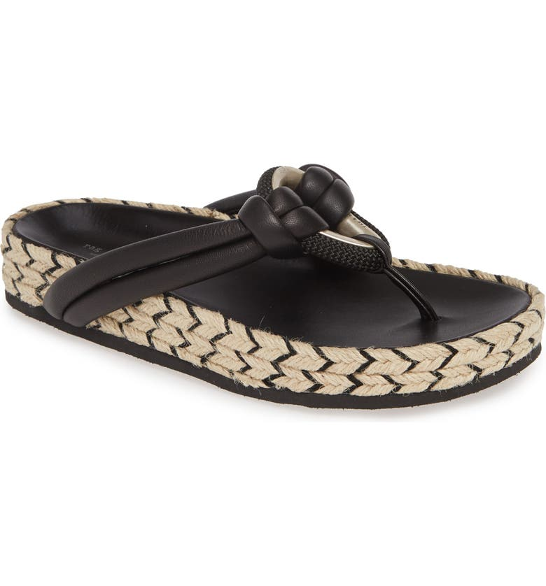 RAG & BONE Eva Espadrille Sandal, Main, color, BLACK