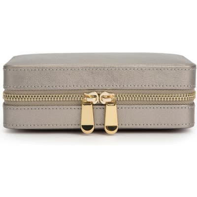 Wolf Palermo Zip Jewelry Case - Grey