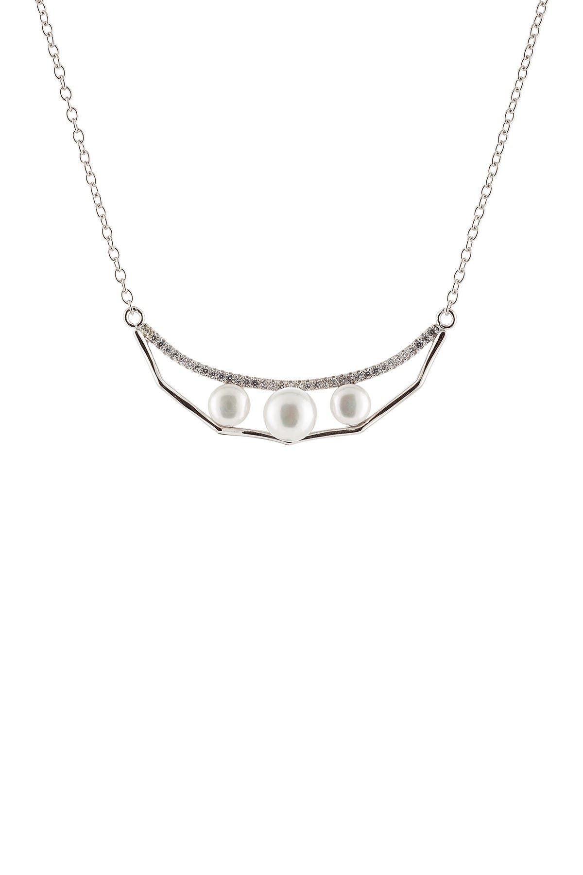 Image of Splendid Pearls 2-Piece 7-8mm Freshwater Pearl Necklace & Earrings Set