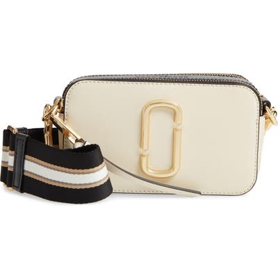 The Marc Jacobs The Snapshot Leather Crossbody Bag - White