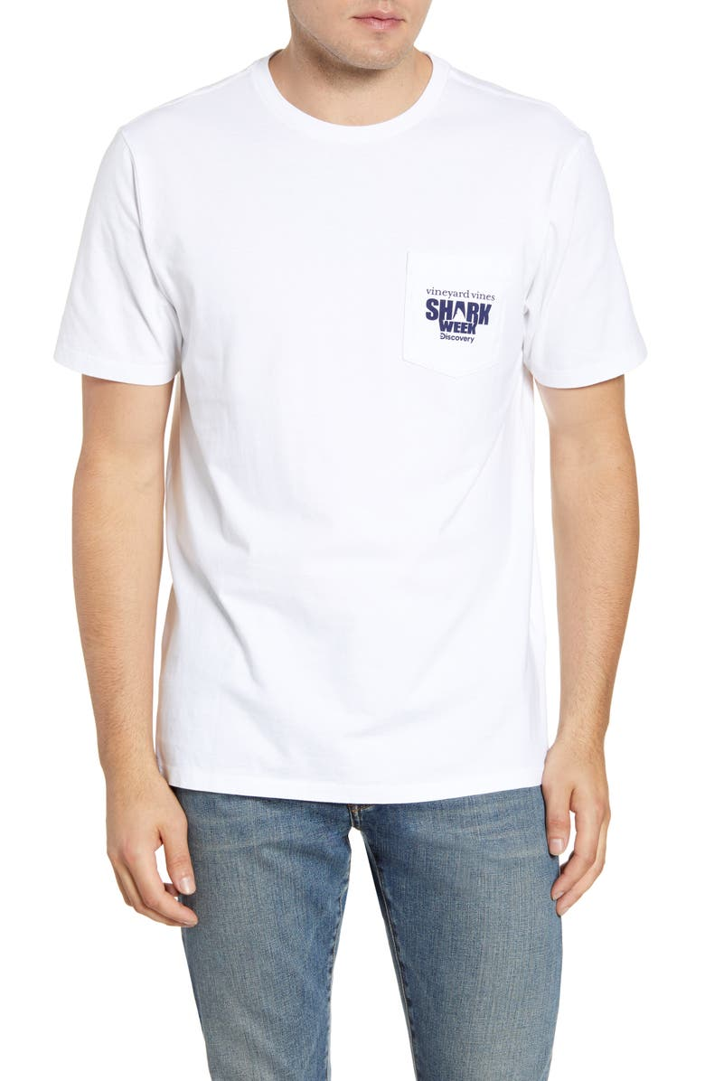 VINEYARD VINES x Shark Week<sup>™</sup> Whale Shark Pocket T-Shirt, Main, color, 100