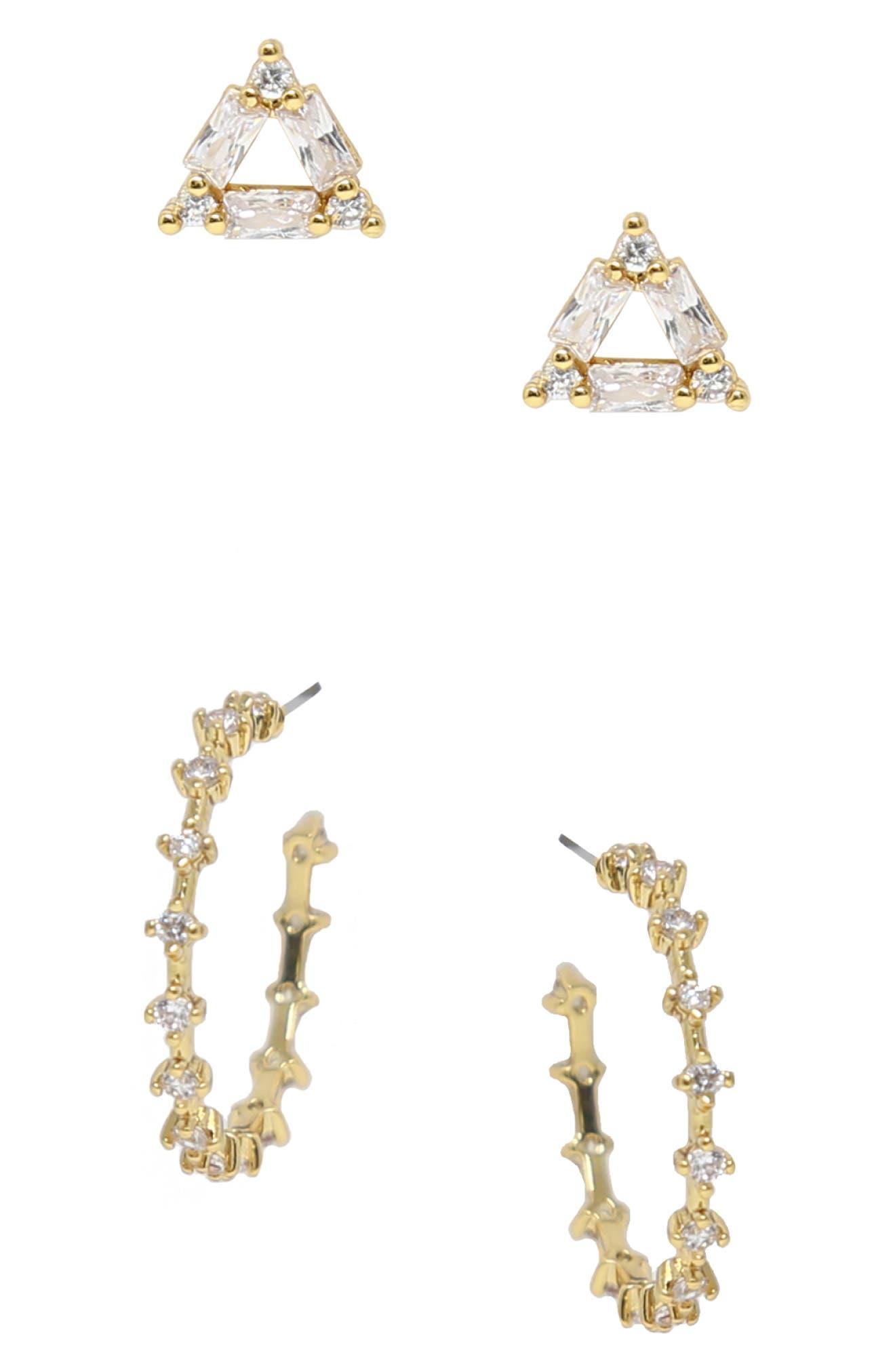 Hoop & Stud Set Of 2 Earrings