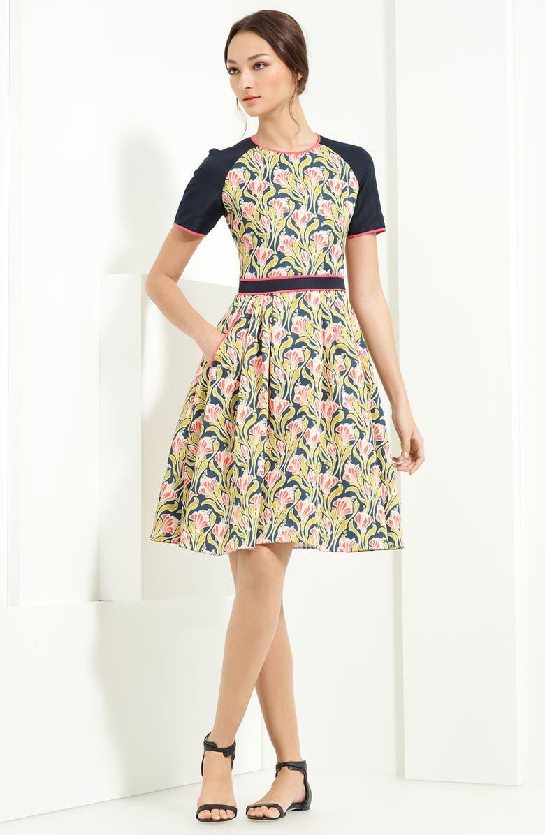 JASON WU COLLECTION Jason Wu Taffeta Scuba Dress, Main, color, 950