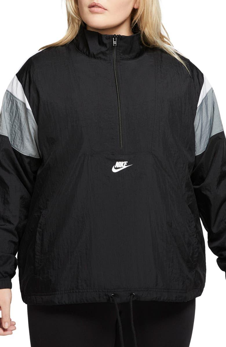 NIKE Sportswear Heritage Woven Jacket, Main, color, BLACK/ SMOKE GREY/ WHITe