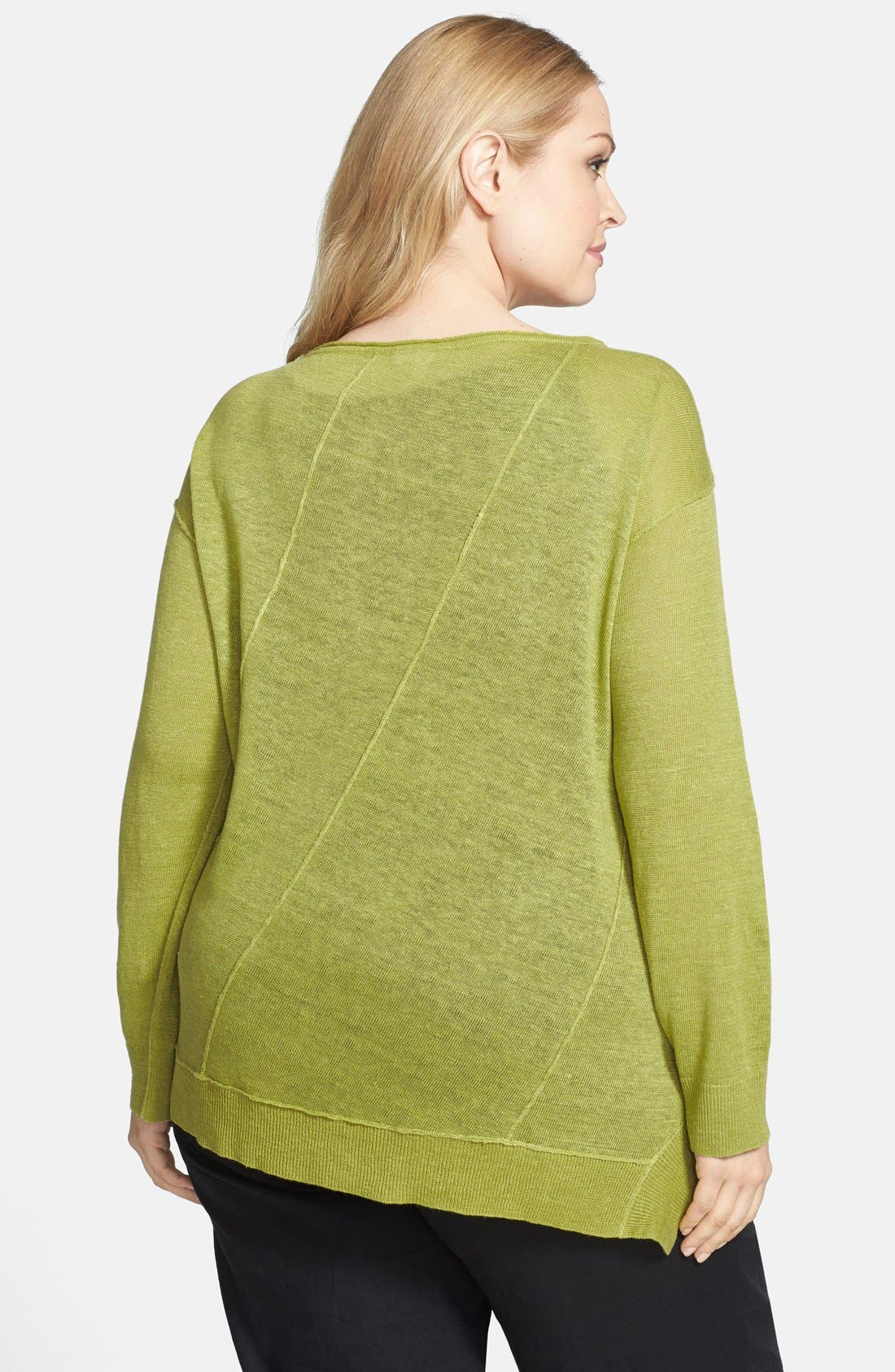,                             Organic Linen Boat Neck Top,                             Alternate thumbnail 12, color,                             336