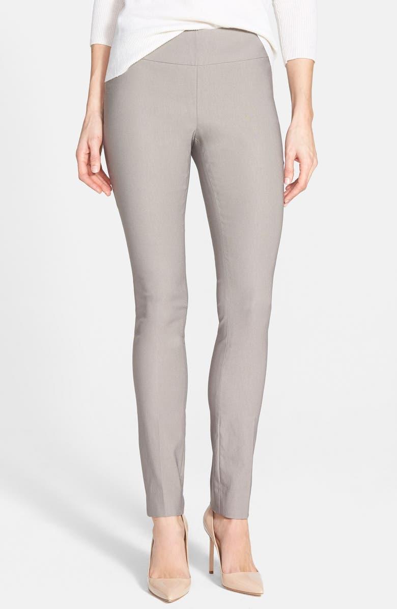 NIC+ZOE Wonderstretch Slim Leg Pants, Main, color, MUSHROOM