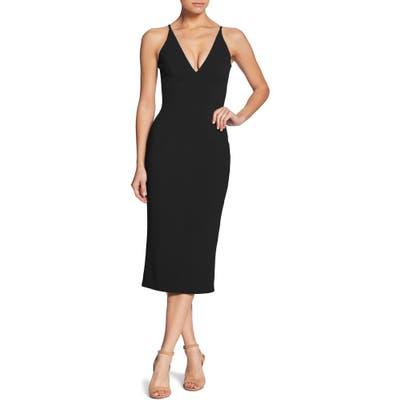 Dress The Population Lyla Crepe Cocktail Dress, Black