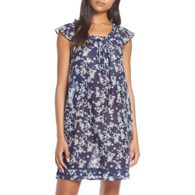 Papinelle Isabelle Cotton & Silk Nightgown, Blue